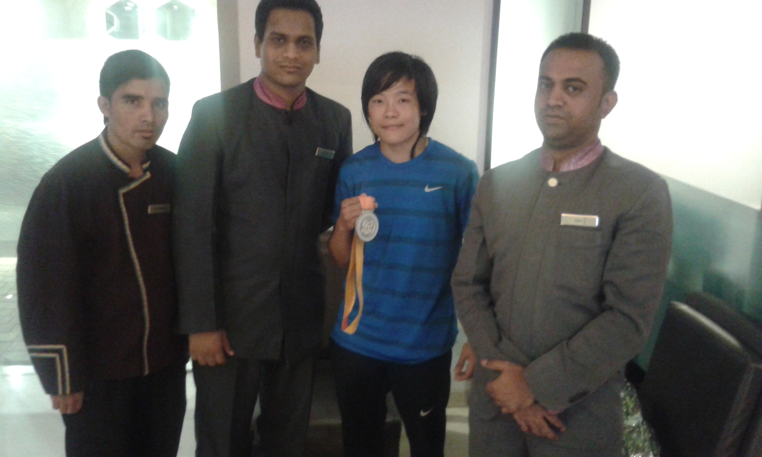 Glad to host Ms. Sarjubala Devi (Silver Medal winner at World Boxing Championship-2014)