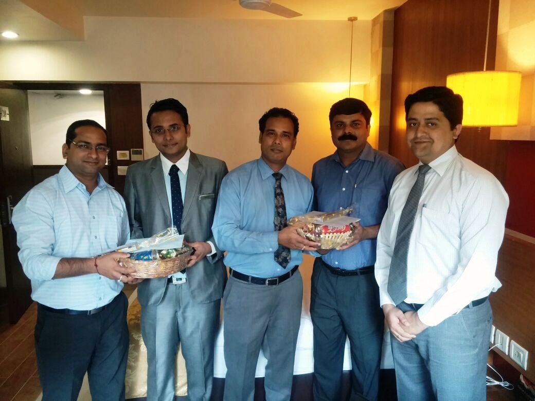 50th Visit celebration of Mr. Rajesh & Mr. Mohit of Siemens